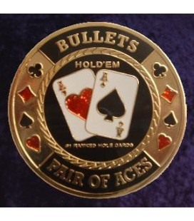 BULLETS METAL POKER CARD PROTECTOR GOLD