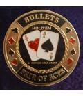 BULLETS METAL POKER CARD PROTECTOR GOLD
