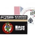 2 MAZZI DI CARTE DA GIOCO NTP LONG LIFE RAMINO E BRIDGE 100% PVC.