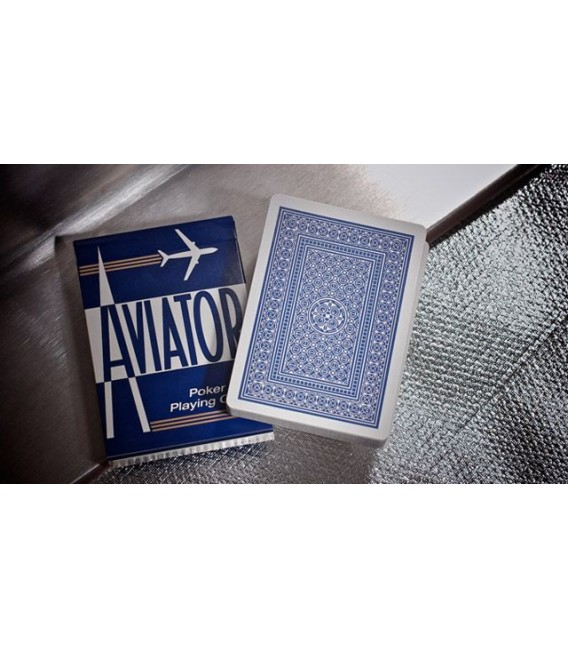 CARTE DA GIOCO AVIATOR STANDARD INDEX DORSO BLU
