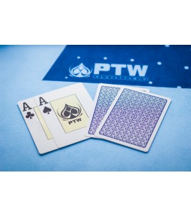 "NEW CARTE DA GIOCO PTW ""ONE WAY"" 100% PVC DORSO BLU"