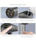 Dispenser 300 ml sapone Dispenser parete Dispenser con sensore IR no touch gel