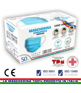 N° 1000 MASCHERINE CHIRURGICHE MONOUSO 100% MADE IN ITALY
