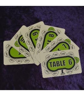 TABLE SEAT CARDS 6-10. SEGNAPOSTO