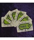 TABLE SEAT CARDS 6-10. SEGNAPOSTO