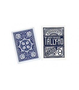 CARTE TALLY-HO FAN BACK DESIGN - MADE IN USA - DORSO BLU