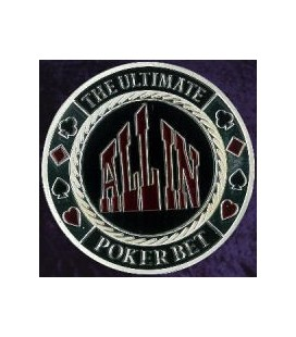 ALL IN METAL POKER CARD PROTECTOR SILVER