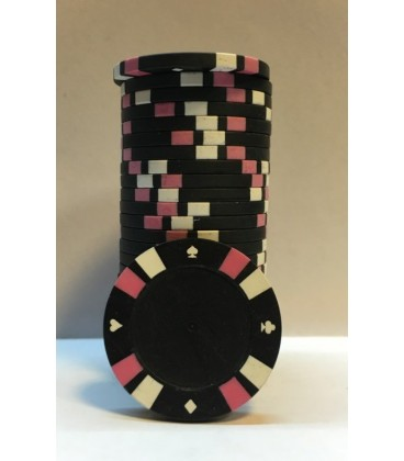WHITE DOUBLE STRIPE 3 COLOUR 14 G POKER CHIPS