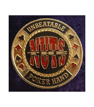 NUTS METAL POKER CARD PROTECTOR GOLD