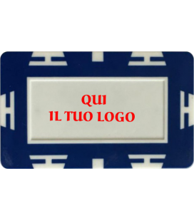 PLACCA IN CLAY PERSONALIZZABILE CON BOLLINO IN PVC