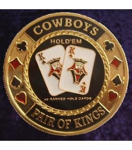 COWBOYS METAL POKER CARD PROTECTOR