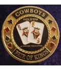 COWBOYS METAL POKER CARD PROTECTOR GOLD