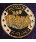 LAS VEGAS  METAL POKER CARD PROTECTOR GOLD