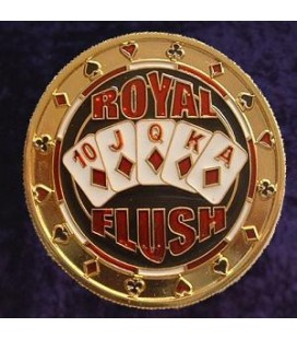 ROYAL FLUSH METAL POKER CARD PROTECTOR GOLD